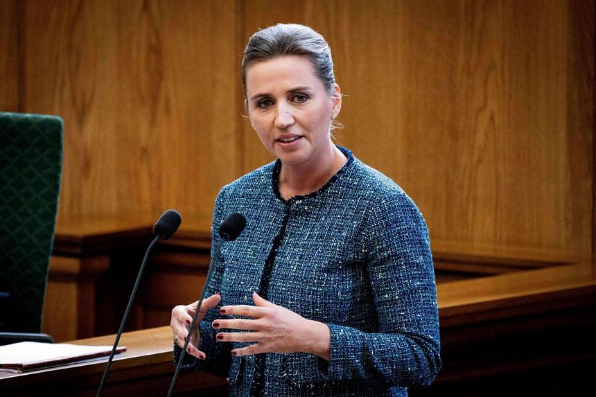 In a photo taken on Oct 1, Denmark's Prime Minister Mette Frederiksen speaks at the opening of the Danish Parliament Folketinget at Christiansborg Palace in Copenhagen.