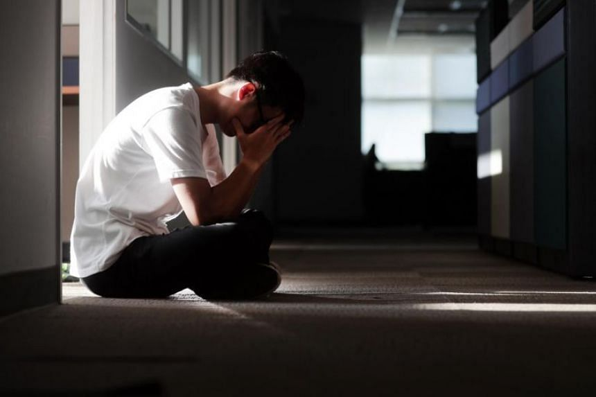 Posed photo of a person with depression.
