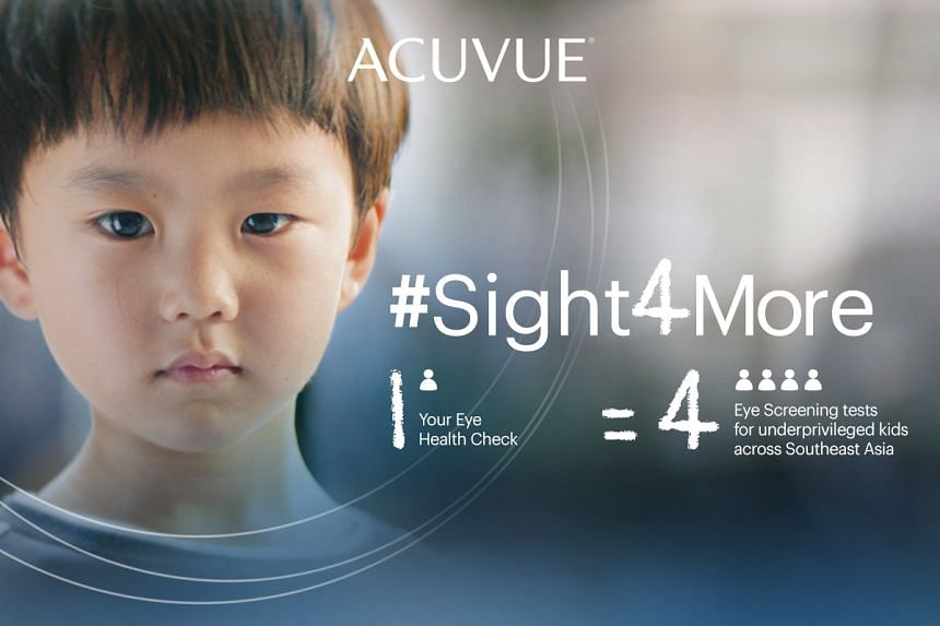 Regular comprehensive eye health checks can help detect myopia and other eye conditions before it is too late. PHOTO: ACUVUE