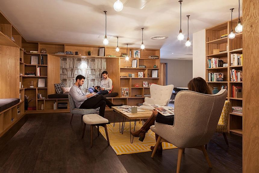The Collective's Old Oak, a co-living space in West London. Amenities at The Collective's properties include cinemas, libraries and spas.