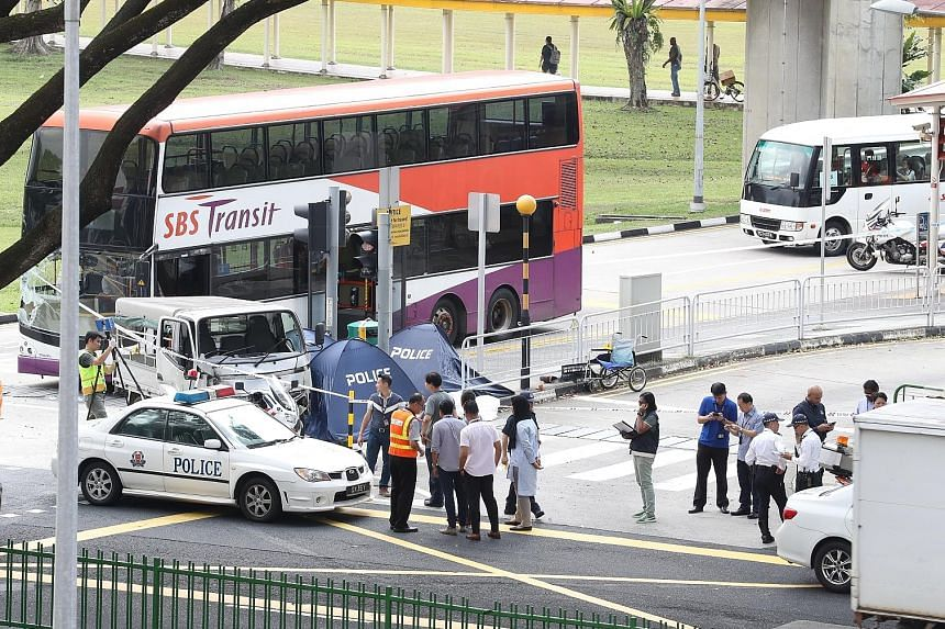 The three pedestrians pronounced dead at the scene of the accident in April last year were Mr Chua Cheng Thong, 86, his daughter Gina Chua Aye Wah, 58, and a family friend, Mr Yap Soon Huat, 63.