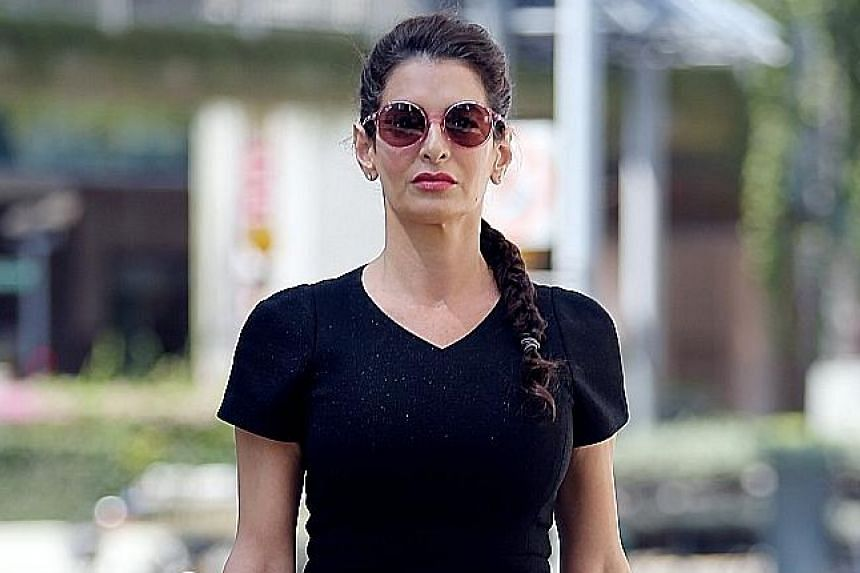 Tala Alamuddin Le Tallec, who has a past drink-driving conviction in Singapore, will also be disqualified from driving for four years after her release. ST PHOTO: WONG KWAI CHOW