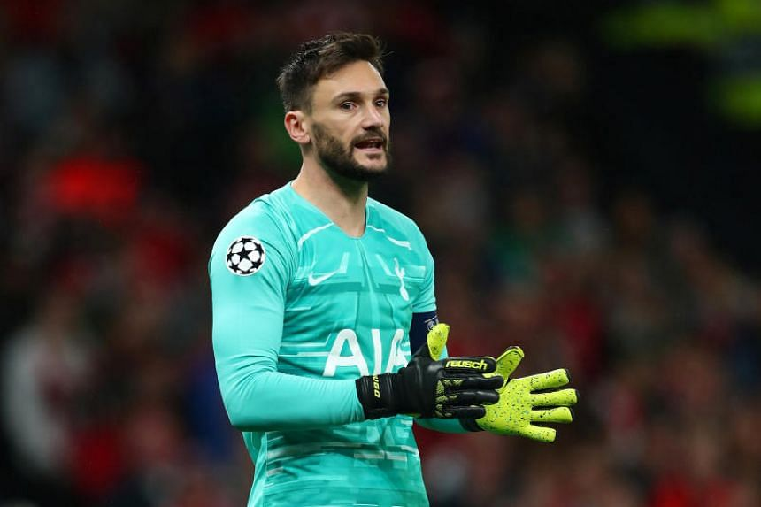 Tottenham Hotspur goalkeeper Hugo Lloris seen during a match between Tottenham Hotspur and Bayern Munich at the Tottenham Hotspur Stadium in London, Britain on Oct 1, 2019.