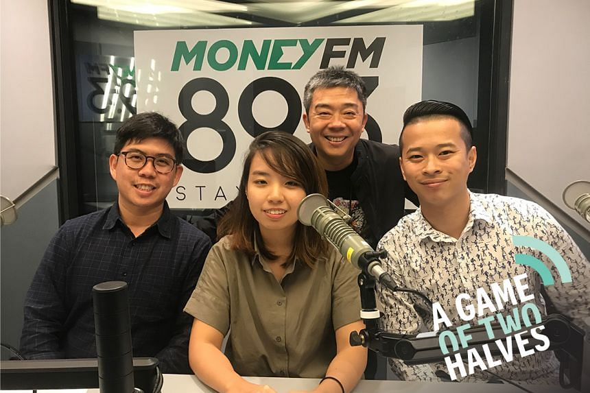 ST sports deskers Jonathan Wong (far left), Kimberly Kwek (second from left) and David Lee (far right) join Money FM's Bernard Lim as they discuss the week's hottest talking points in sports.