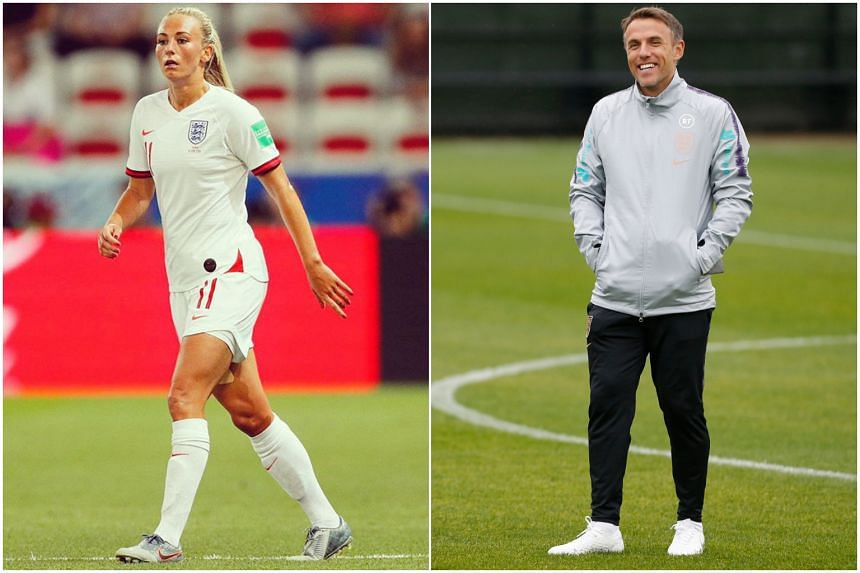 Atletico Madrid forward Toni Duggan expressed support for Phil Neville as England's coach.
