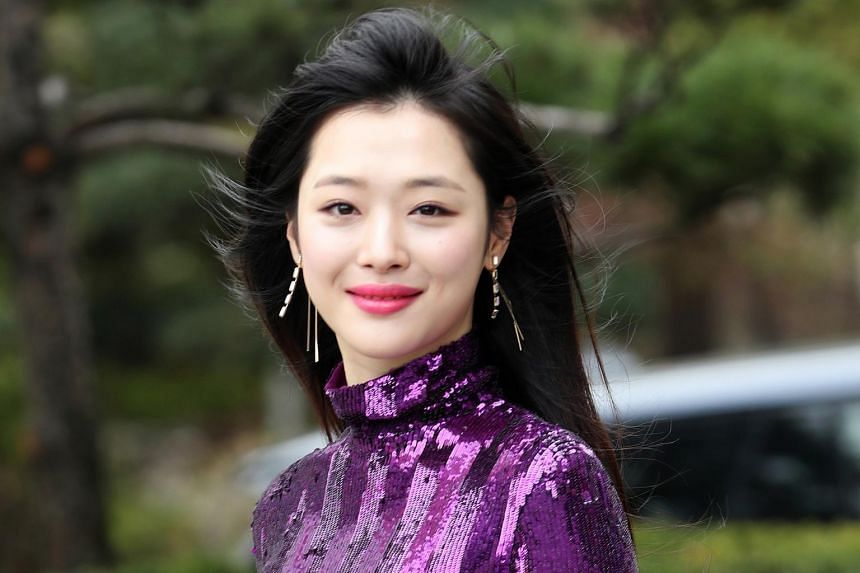 South Korean singer and actress Sulli was found dead at her residence in Seongnam, South Korea, on Oct 14, 2019.