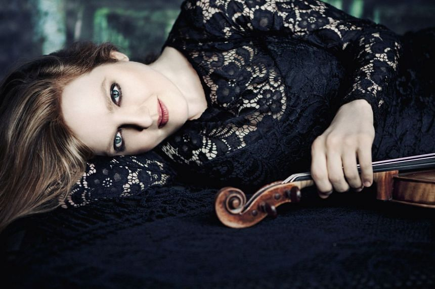 Violinist Rachel Barton Pine's (above) concert at the Victoria Concert Hall on Oct 27 will combine her twin passions of heavy metal and classical music.