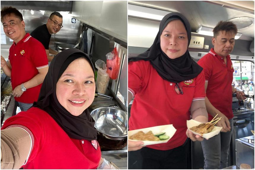 Madam Samsiah Suliman, whose satay business Jumain Sataysfaction was taking part in a Taste Of Singapore pop-up food event in Tokyo, was affected by Typhoon Hagibis when it lashed Japan over the weekend.