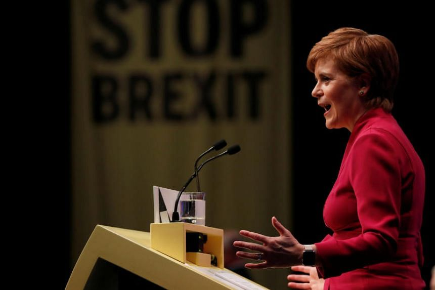 """Scottish National Party leader Nicola Sturgeon said she was """"sick of Brexit"""" and that the United Kingdom was a broken political system that imposed policies on Scotland against its will."""