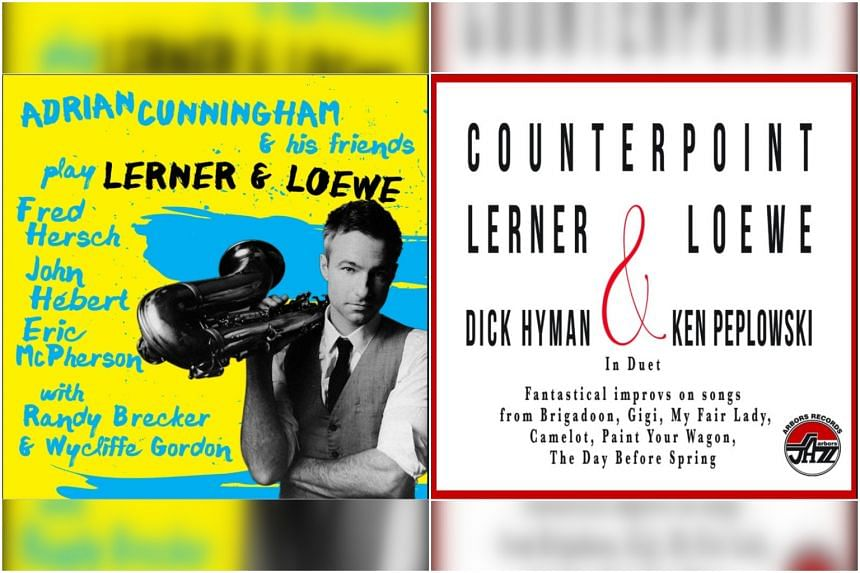 Album covers of Counterpoint Lerner & Loewe and Adrian Cunningham and his friends play Lerner & Loewe