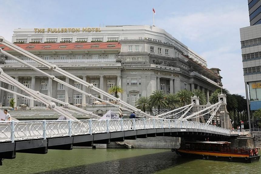 Cavenagh Bridge (above), Anderson Bridge and Elgin Bridge were collectively gazetted as Singapore's 73rd national monument yesterday. Until Oct 28, members of the public will be able to check out a series of installations at the bridges as part of th