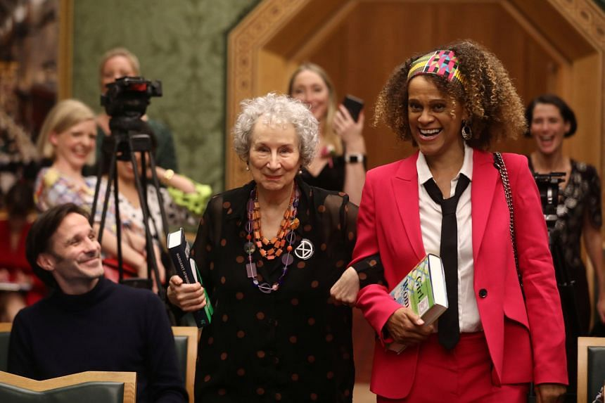 Margaret Atwood (left) and Bernardine Evaristo were jointly awarded the Booker Prize for Fiction 2019 at the Guildhall in London on Monday.