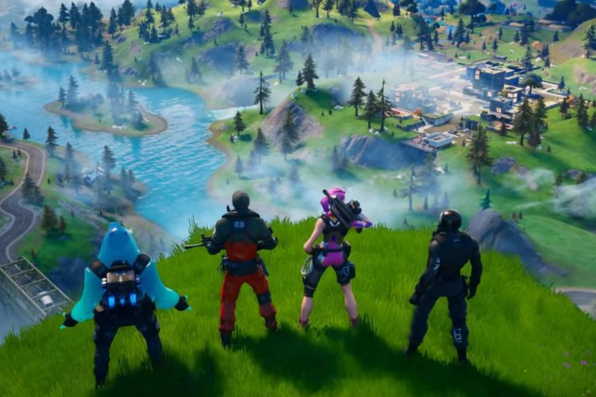 The new version of Fortnite features 13 new locations, water gameplay where characters can swim, fish and ride motorboats, as well as new avatars and guns.