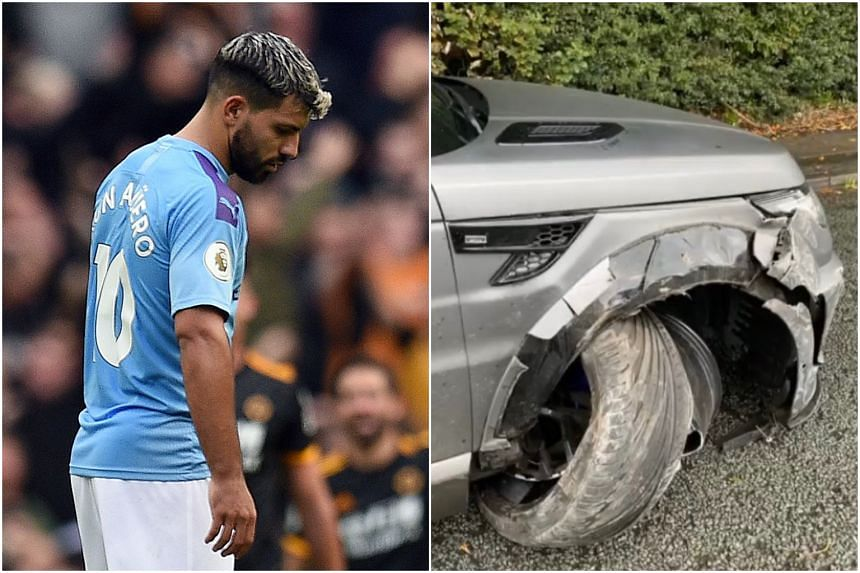 Manchester City striker Sergio Aguero was on his way to City's training facility in his car when the accident occurred.