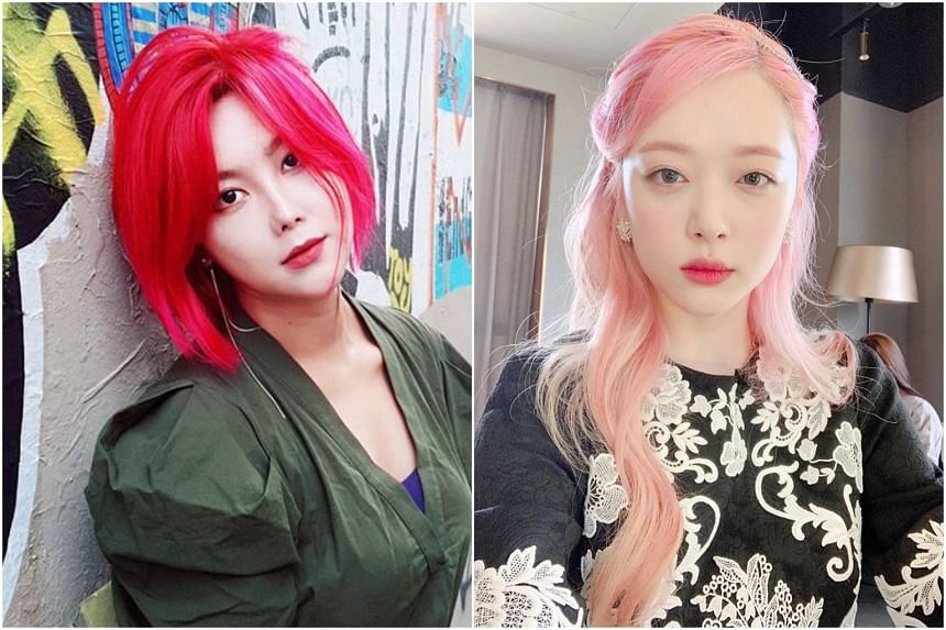Solbi (left) was also subjected to cyber insults, just as Sulli was before her death.