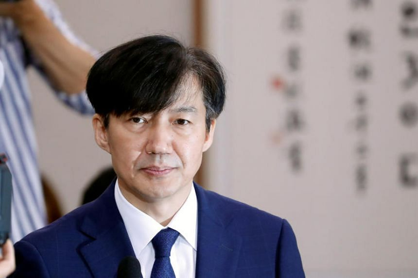 Suth Korean Justice Minister Cho Kuk's resignation comes about a month after President Moon Jae-in appointed him to the post despite widespread criticism.