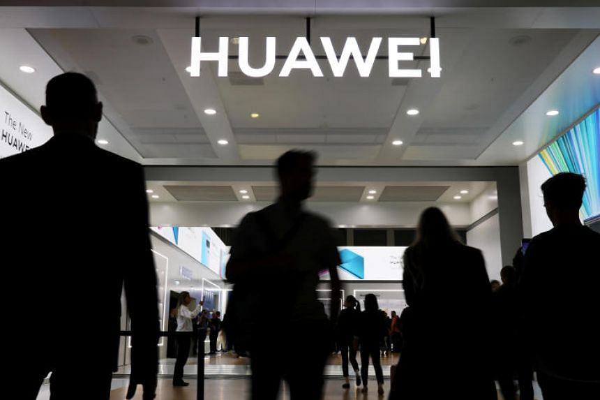 The Huawei logo is seen at the IFA consumer tech fair in Berlin, Germany, on Sept 6, 2019. The firm has been under immense pressure this year as Washington lobbied allies worldwide to avoid the company's telecom gear over security concerns.