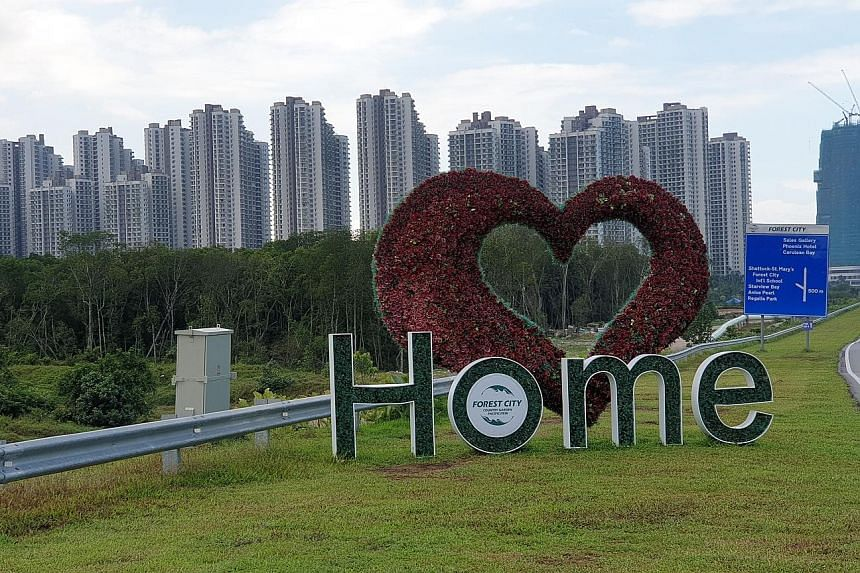 An upscale residential development in Forest City, Johor. The southern Malaysian state has 51,000 unsold properties, of which between 60 per cent and 70 per cent are priced at RM600,000 (S$197,000) and above. ST FILE PHOTO