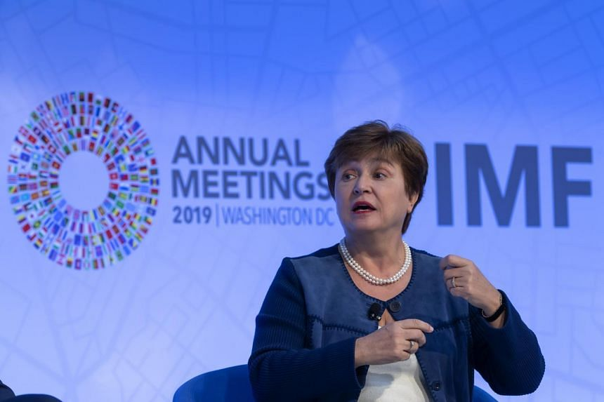IMF's new managing director Kristalina Georgieva said the fund is already incorporating environmental factors into its analysis of higher-risk countries and would like to make it routine.