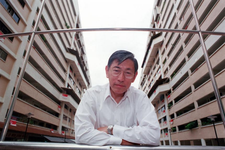 In a photo dated July 2, 2005, Mr Chiam See Tong posing at a new amphitheatre and pavilion area his town council completed in Potong Pasir. Mr Chiam has been MP there since 1984.