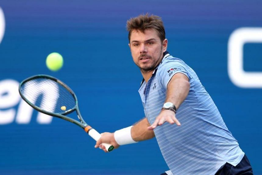 In a photo taken on Sept 3, 2019, Stan Wawrinka of Switzerland returns a shot during his Men's Singles quarterfinal match against Daniil Medvedev of Russia on day nine of the 2019 US Open in New York.