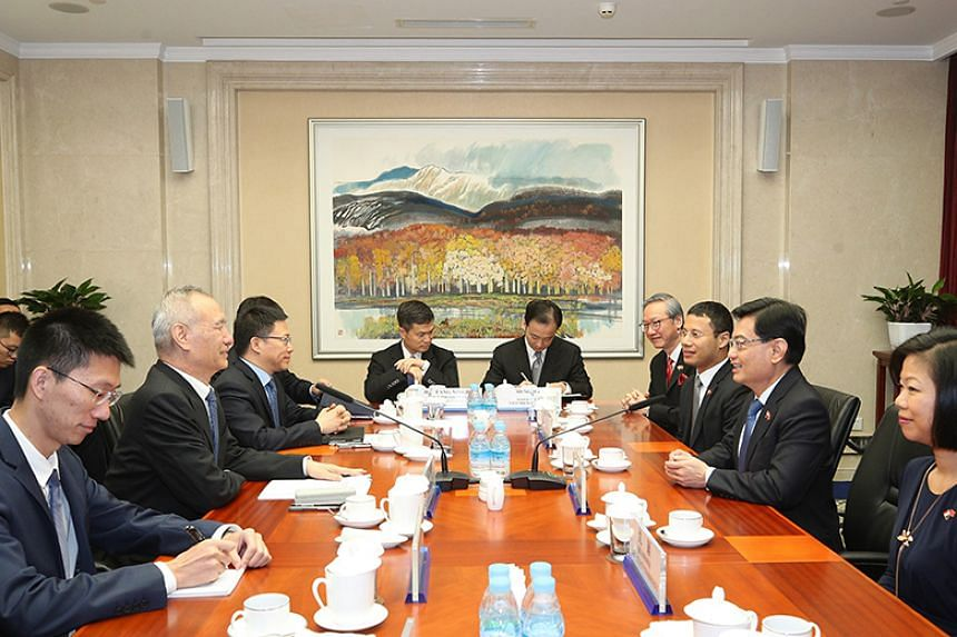 Deputy Prime Minister Heng Swee Keat and Chinese Vice-Premier Liu He also exchanged views on global economic developments.