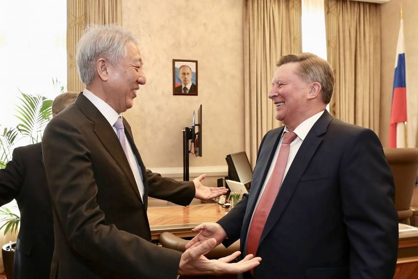 Senior Minister and Coordinating Minister for National Security Teo Chee Hean meeting Special Presidential Representative for Environment Protection, Ecology and Transport Mr Sergei Ivanov during his visit to Moscow.