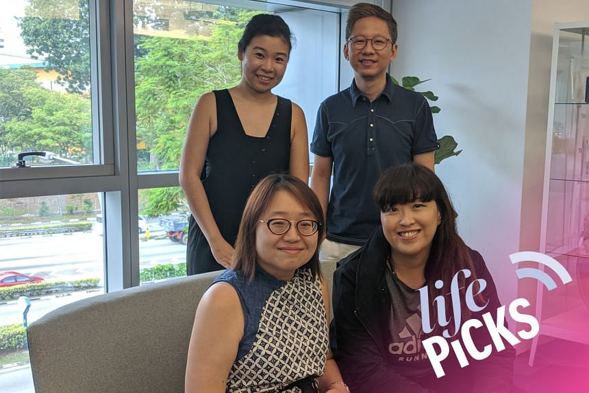 (Clockwise from top right) Entertainment writer Boon Chan, food writer Hedy Khoo and culture and arts writer Ong Sor Fern share their picks for the week with host Melissa Sim on this episode of Life Picks.