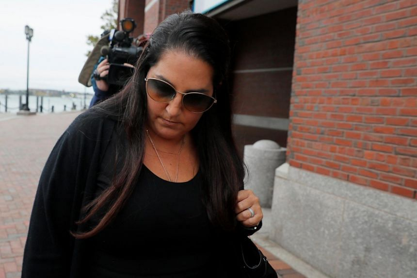 Business owner Marjorie Klapper leaving the federal courthouse after being sentenced in Boston, Massachusetts, on Oct 16, 2019.
