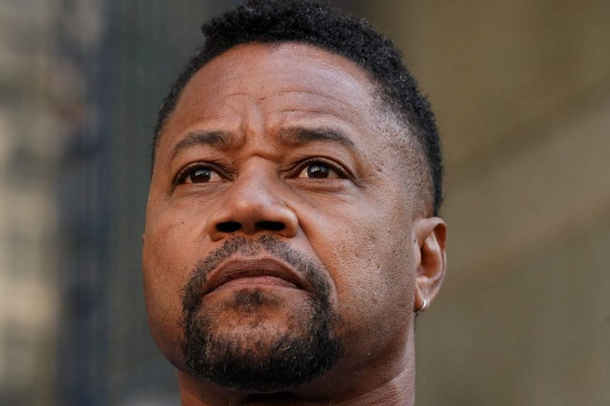 Oscar-winning actor Cuba Gooding Jr leaving his court arraignment in New York on Tuesday.