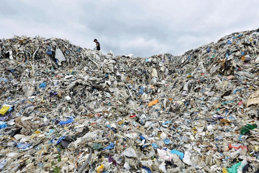 Wespack landfill, at Jenjarom outside Kuala Lumpur, Malaysia, in December last year.  Malaysia has vowed this year to send plastic waste back to the source country and get them to pay for the transportation costs.