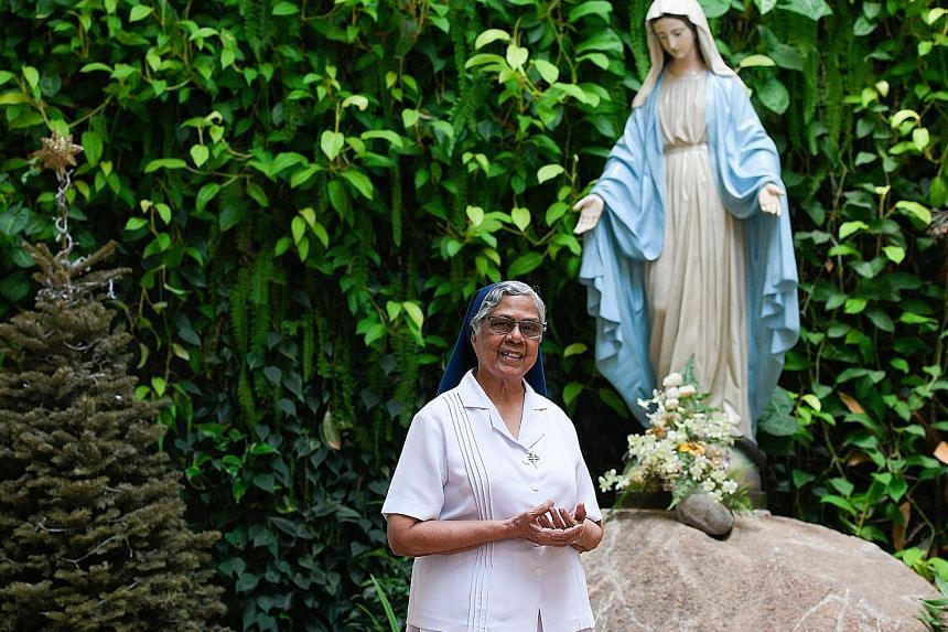 """Sister Gerard Fernandez worked with the prisons here as a death-row counsellor for more than 40 years until 2017. In that time, she """"walked with"""" 18 inmates on death row, up until their executions. ST FILE PHOTO"""