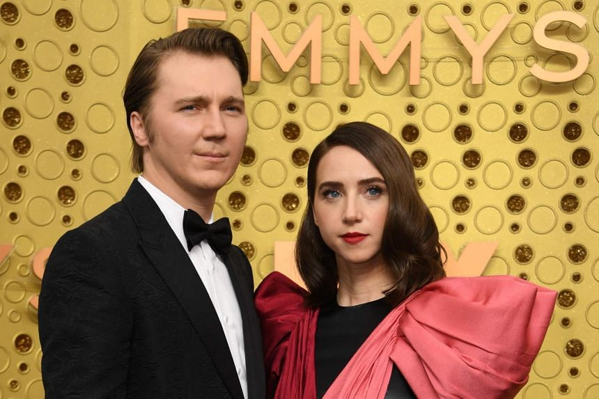Paul Dano, seen here with actress Zoe Kazan, has been unveiled as the villain Riddler in the upcoming Batman movie.