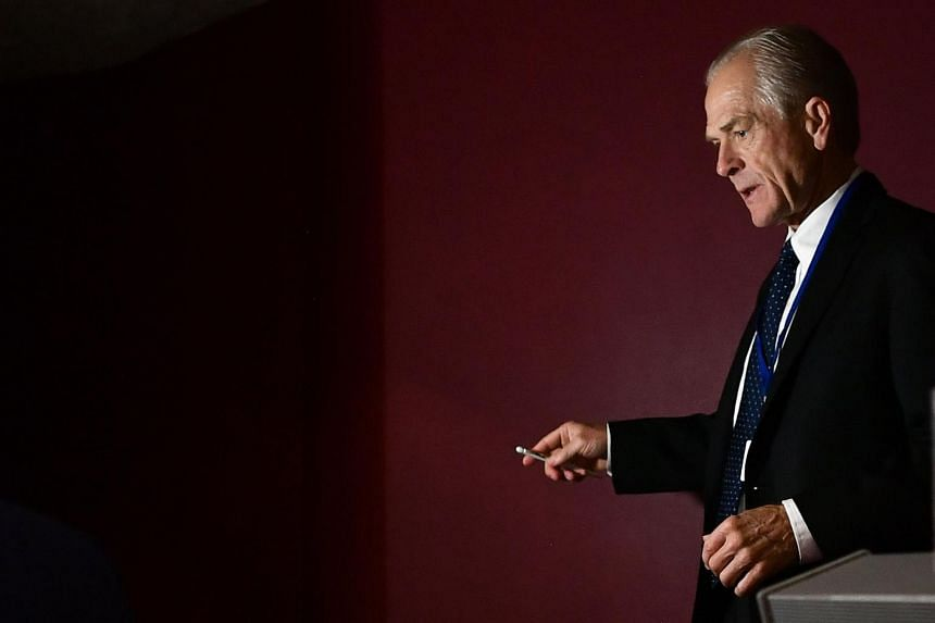 """White House trade adviser Peter Navarro said in a statement that the name he used was """"a whimsical device and pen name I've used throughout the years for opinions and purely entertainment value, not as a source of fact""""."""