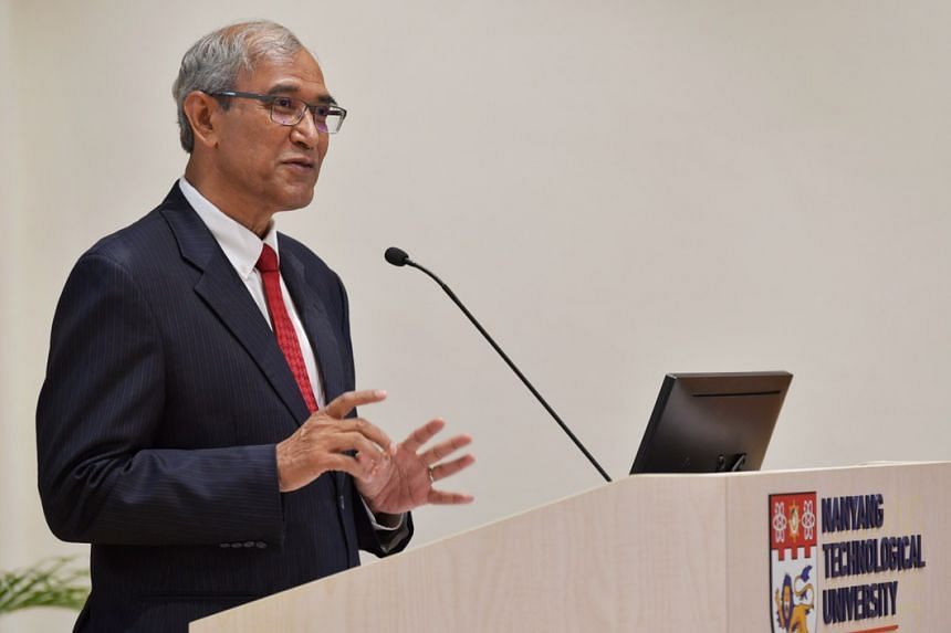 Former senior minister of state Zainul Abidin Rasheed speaking at Nanyang Technological University's Bicentennial Conference on Oct 18, 2019.