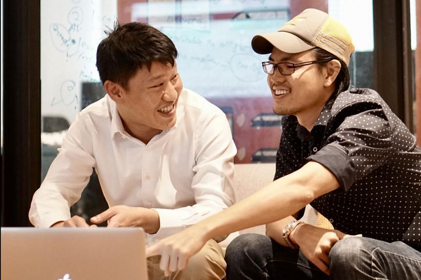 Arthur Chua and Jarrold Ong, the co-founders of Swat, a local bus transport start-up.