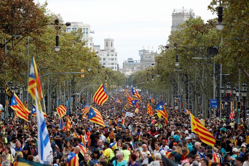 Many of the marchers began their journeys to the city on Oct 16 from municipalities across the north-eastern Spanish region.
