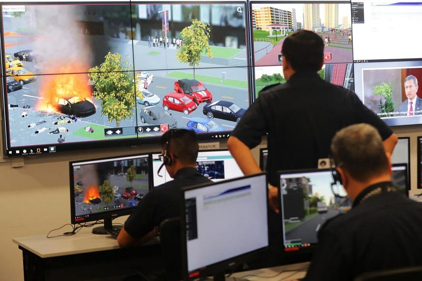 The Home Team Simulation System is the first in the world to marry virtual simulation and live simulation.