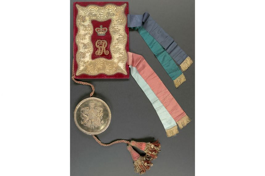 The most eye-catching display is the actual 1824 Anglo-Dutch Treaty (above), an elaborately red-bound confection with golden tassels and a wax seal, which divided South-east Asia between the colonial powers of the English and the Dutch.