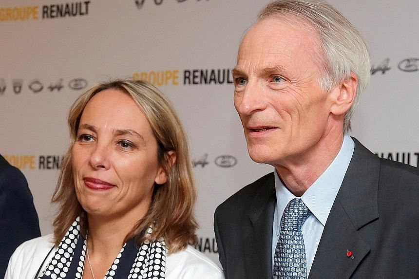 Renault's interim chief executive Clotilde Delbos and chairman Jean-Dominique Senard at the French carmaker's headquarters last week. Renault says sales are likely to drop between 3 per cent and 4 per cent this year.