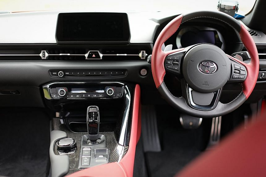 The Toyota Supra's interior has a good fit and finish. Whether you are hurtling down a track or zipping about in downtown traffic, the Toyota Supra comes across as crisp and taut.