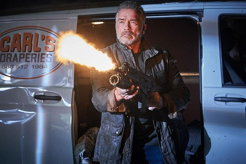 Arnold Schwarzenegger reprises his iconic role as the T-800 Terminator in Terminator: Dark Fate, the latest instalment in the series which opens in Singapore on Oct 24.