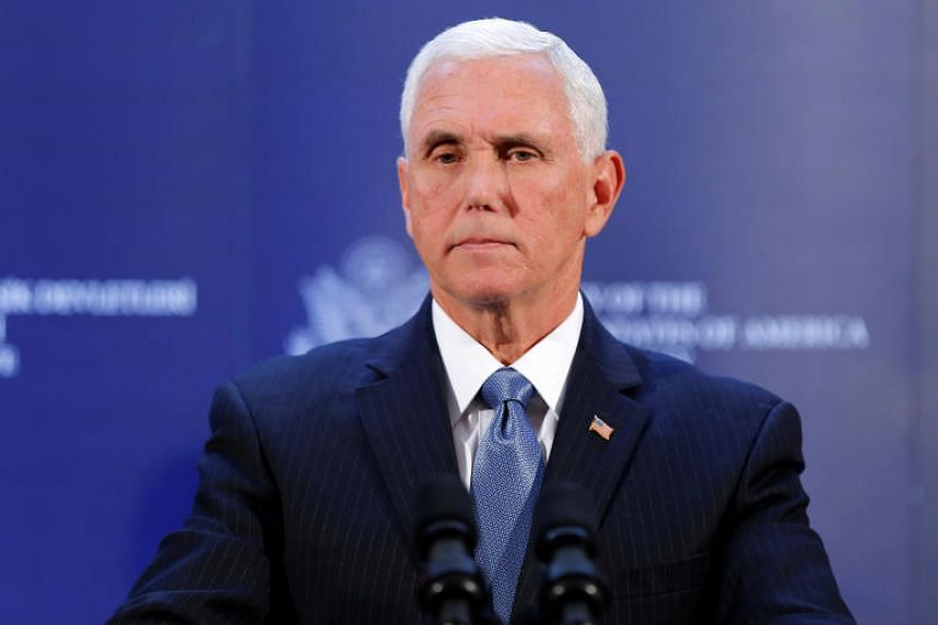 US Vice-President Mike Pence attends a news conference at the US. Embassy in Ankara, Turkey on Oct 17, 2019.