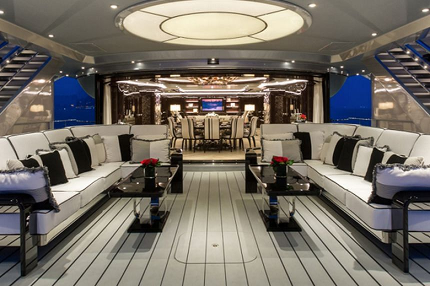 The interior of the superyacht, named the Equanimity when fugitive businessman Low Taek Jho owned it.