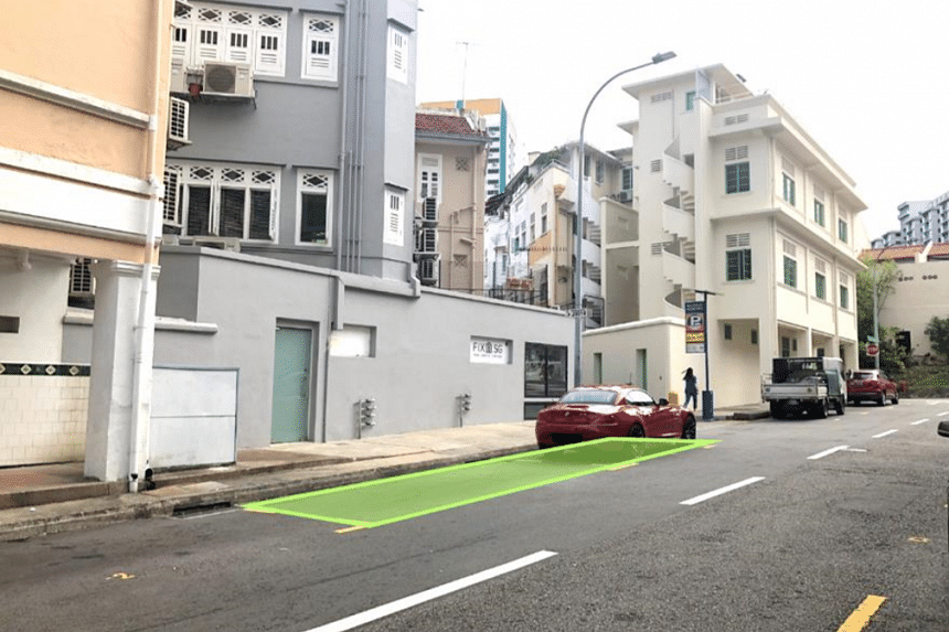 Roadside parking lots at Jiak Chuan Road in the Chinatown area will be converted into about 20 bicycle parking lots by end-November, with more to come.