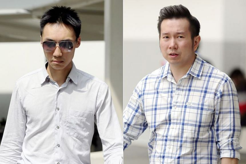 Dr Teo Eu Gene (left) and Dr Andy Joshua Warren, both formerly working at Phoenix Dental Surgery clinics, were charged with cheating and falsifying accounts between August 2014 and October 2015.