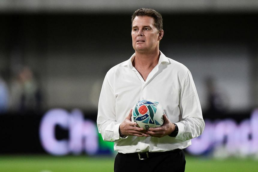 """South African coach Russie Erasmus paid tribute to the """"strength"""" shown by the hosts to win their final pool match just 24 hours after the deadly Typhoon Hagibis, but pointed out that his men also have their own reasons to put in a passionate perform"""