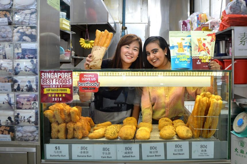 Ms Audrey Chew (left), co-founder of Inspired Snacks, who is putting a modern spin on her family's you tiao supply business You Tiao Man, together with business partner Bandana Kaur