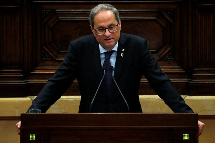 Catalonia's pro-independence regional chief Quim Torra said this week's violence did not reflect the peaceful nature of the traditional Catalan independence movement.