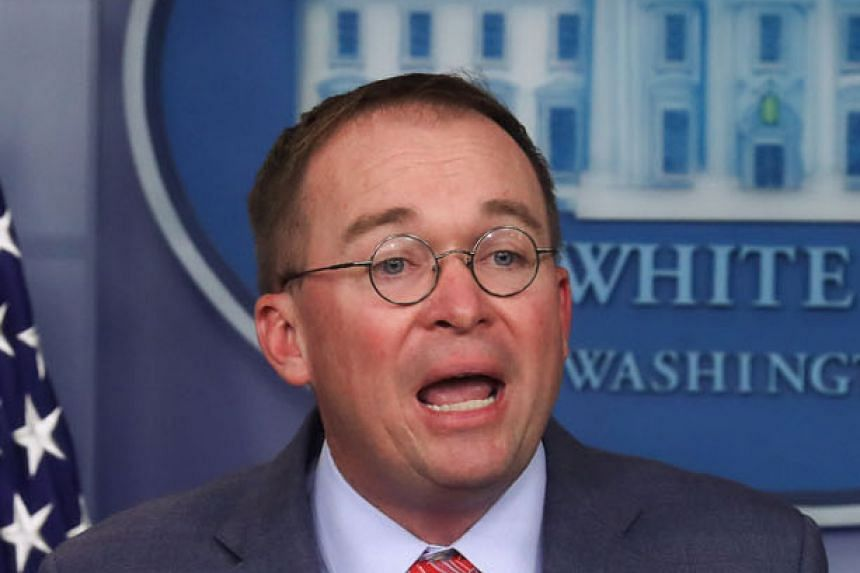 Acting White House chief of staff Mick Mulvaney later contradicted himself in a statement from the White House.